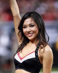 Cindy: Atlanta Falcons cheerleader, future Industrial Engineer