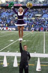 Sean Baltimore Ravens Stuntman NFL Science Cheerleader