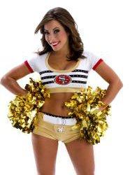 Christi, 49ers cheerleader heading towards her Master's degree.