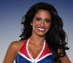 Brianna: Patriots cheerleader majoring in biology and chemistry…future dentist!