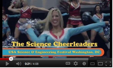 Video: Science Cheerleaders at the USA Science and Engineering Festival!