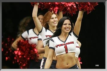 Amber: Former Texans cheerleader, Science/Math cheerleader!