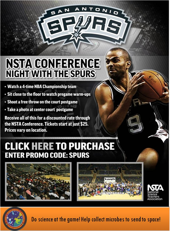 We're taking citizen science to the National Science Teachers Association, then the San Antonio Spurs game…then space!