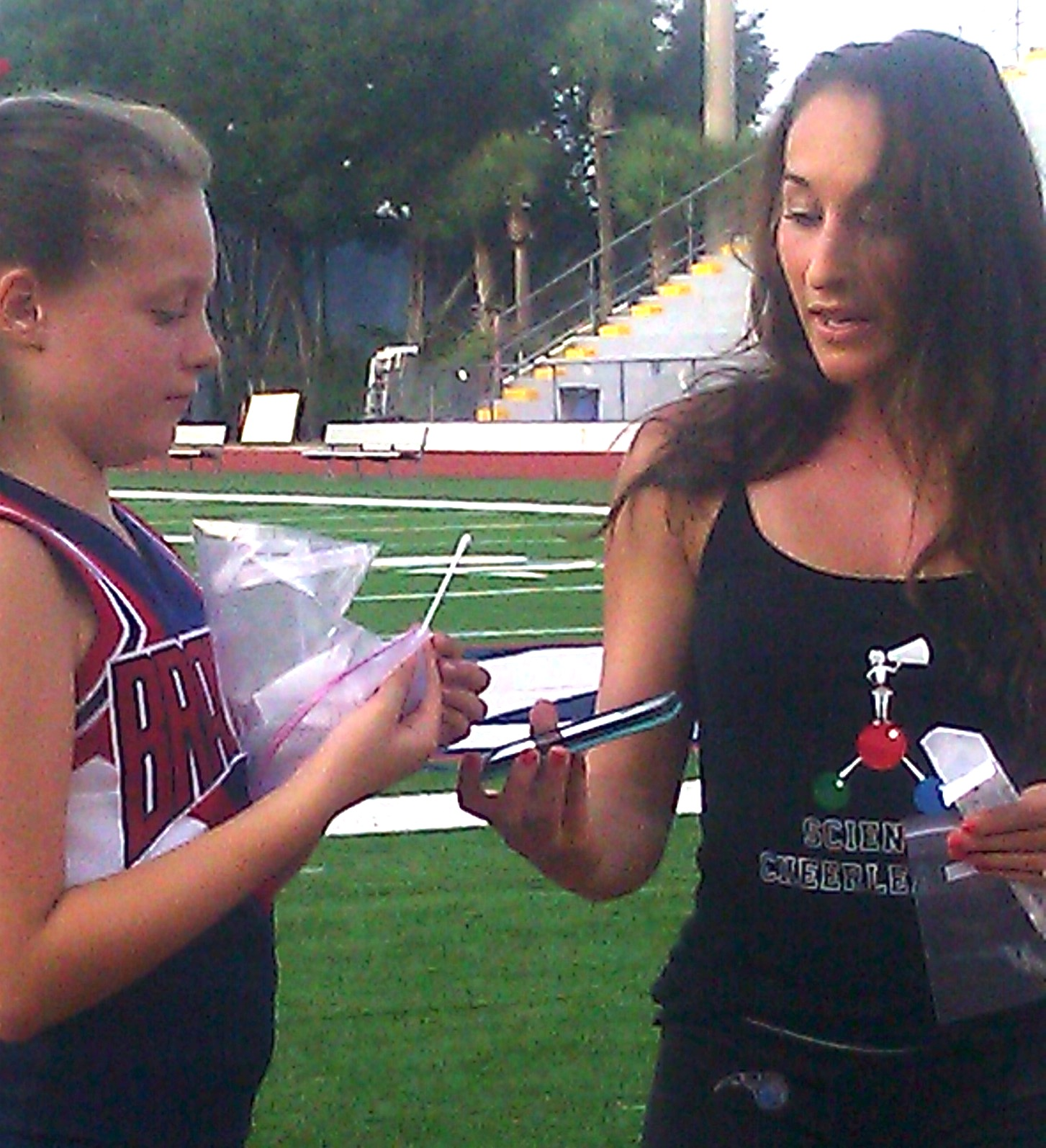 Guest post from Pop Warner cheer coach and seven-year-old cheerleader who participated in Project MERCCURI.