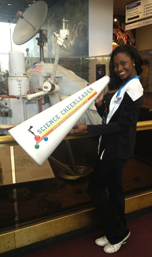 The Science Cheerleaders lead citizen science research at the Smithsonian Air and Space Museum. (photos)