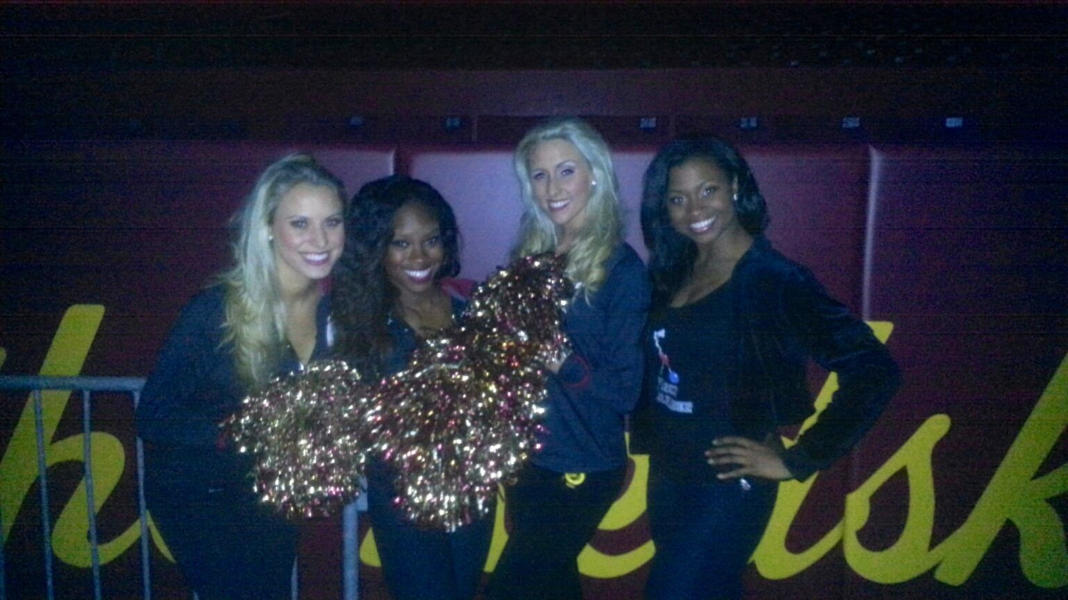 Talmesha and Washington Redskins Cheerleaders Swab Microbes for Project MERCCURI