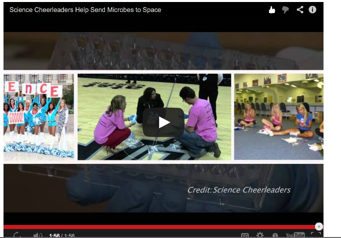 Science Cheerleaders + Citizen Scientists Help Send Microbes to Space (Video)