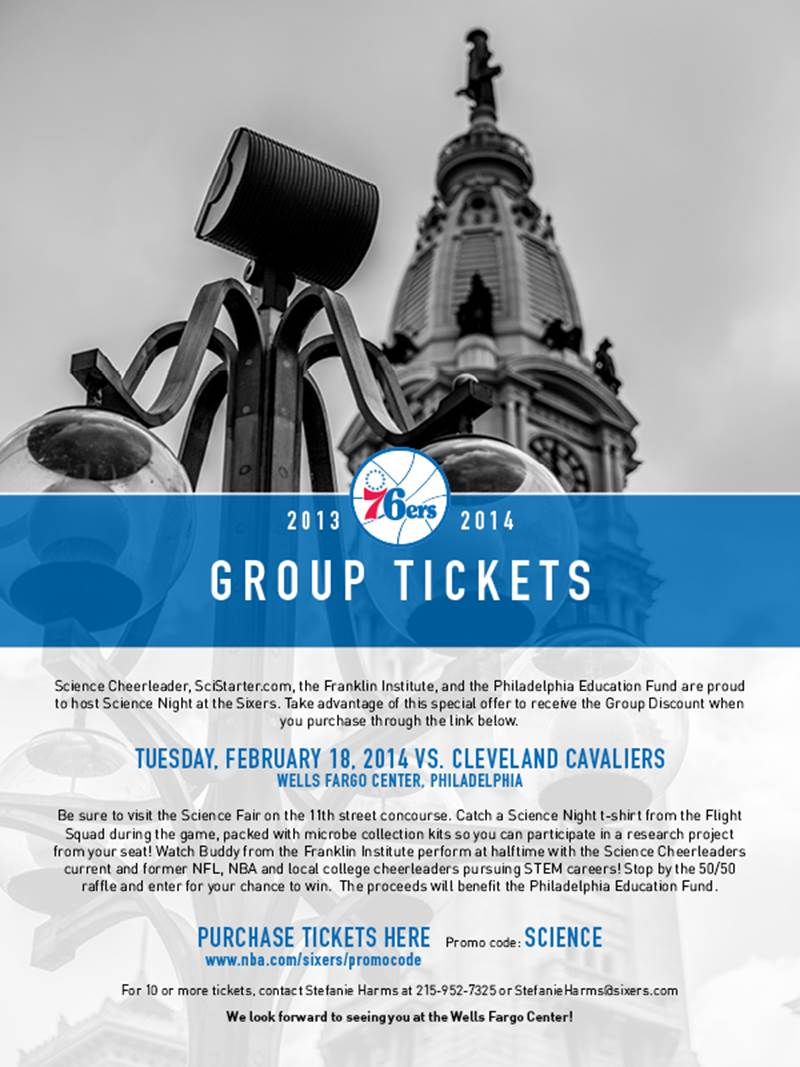 Are you ready for some citizen science at the Sixers on 2/18!?