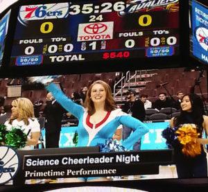 hilar 76ers science cheerleader