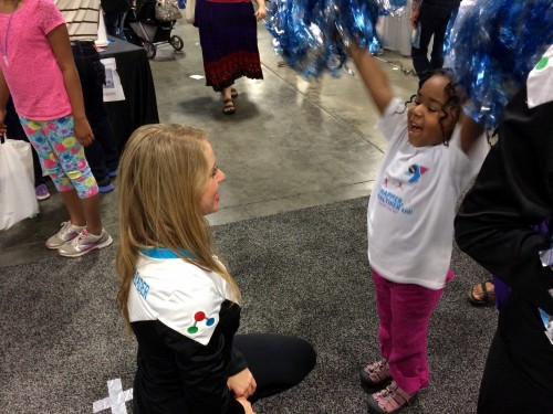 Meet the Science Cheerleaders at the Smithsonian Air and Space Museum, today!