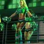 Olivia cheering for Dallas Stars hockey - photo by Jerome Miron