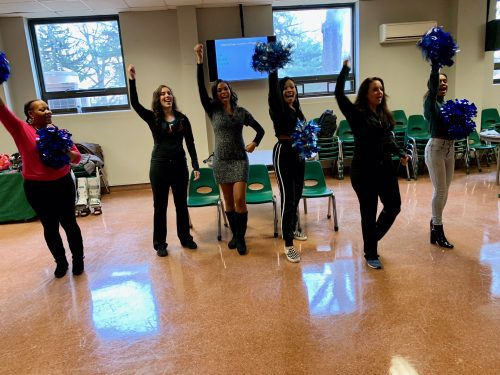 Science Cheerleaders rally at Archbishop Carroll High School STEM Expo